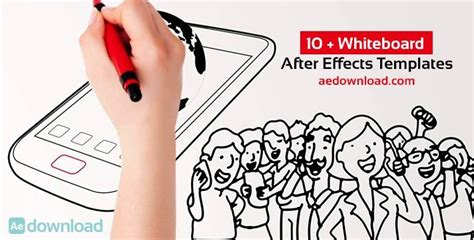 10 Whiteboard After Effects Templates Free After Effects Template Videohive Projects Whiteboard After Effects Template