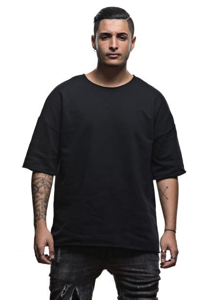 s oversize t shirt and black sleeves