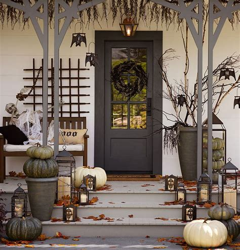 spooky home decor 40 cool halloween front door decor ideas digsdigs