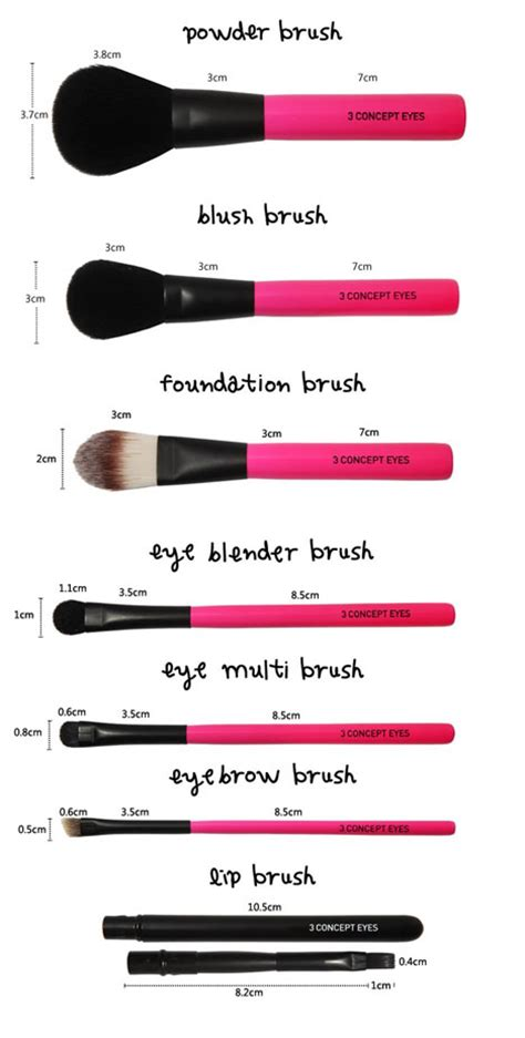 3ce 3 Concept Brush Set Alat Make Up 3ce make up cosmetic mini brush kit pink