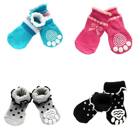 Pet Cotton Socks Set 4pcs Blue buy wholesale pet shoe from china pet shoe