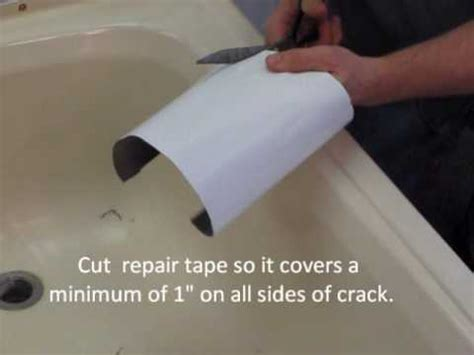 how to repair crack in bathtub repairing a cracked bathtub or shower youtube