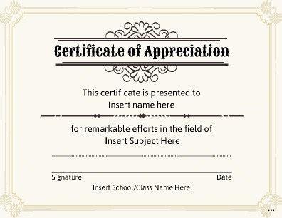 editable certificate of appreciation template editable certificate template facile impression awards