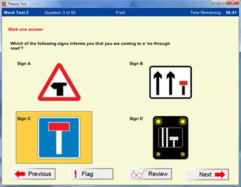 pattern of driving theory test theory test complete