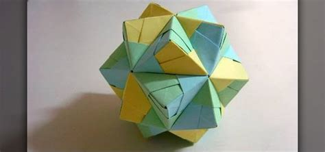 How To Make Origami Paper - how to make a small paper triambic icosahedron with
