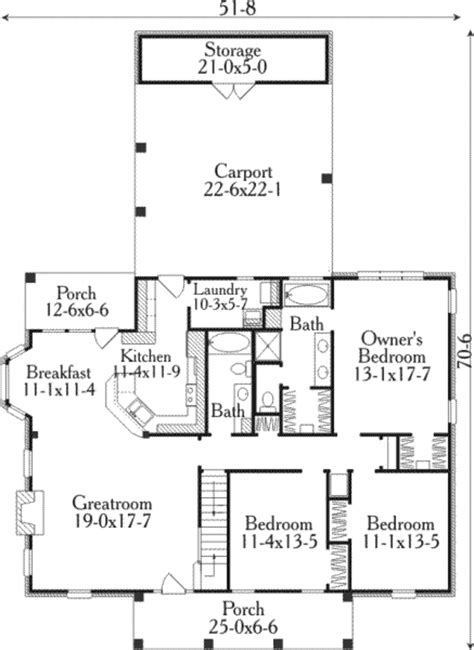 southern style floor plans southern style house plan 3 beds 2 baths 1726 sq ft plan