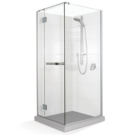 Selang Shower Steinlist stein embrace 2 sided return 1400x 900mm shower door kit bunnings warehouse