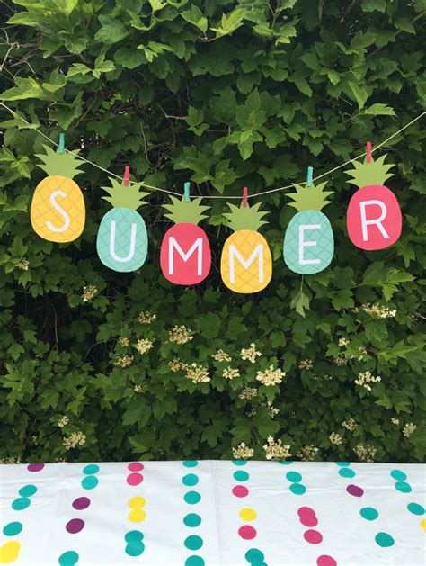 summer party decor on pinterest summer parties summer free pineapple summer banner printable 24 7 moms