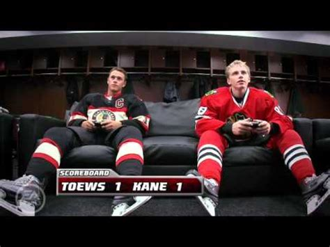 toews and kane fight on bench patrick kane vs jonathan toews nhl 11 funny youtube
