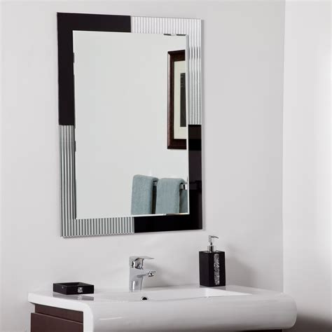 Modern Bathroom Mirror with Decor Modern Bathroom Mirror Beyond Stores