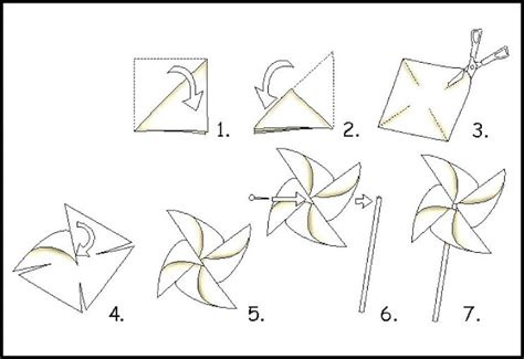How To Make Paper Windmill For - how to make a paper windmill rachael edwards