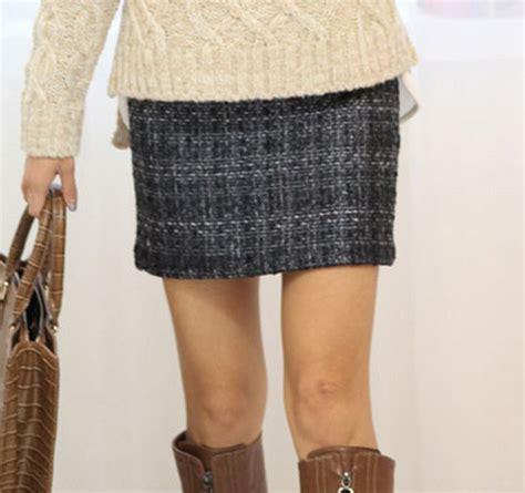 secret2girls tweed h line mini skirt kstylick