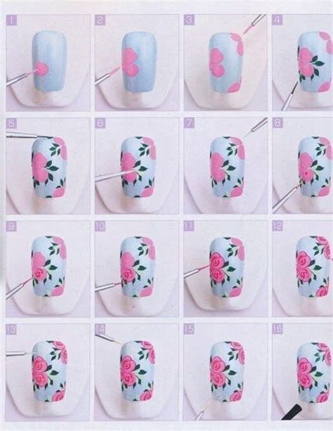 tutorial nail art love rose nail tutorial stiletto nails pinterest rose