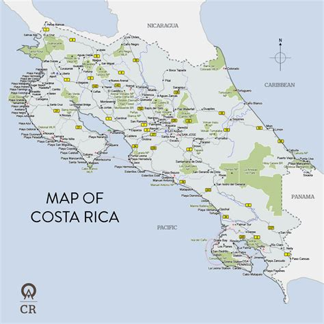 maps of costa rica map of costa rica maps site w great activities to do