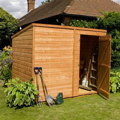 Windowless Shed by 8 X 6 Windowless Tongue And Groove Pent Shed With Single