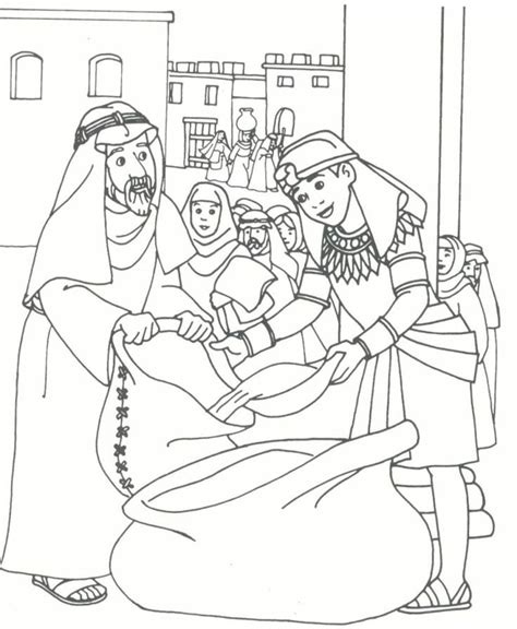 coloring sheets for joseph joseph brothers coloring page kid printables joseph