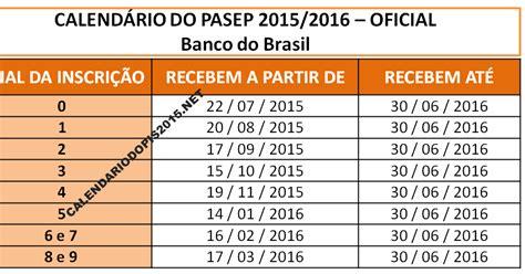 Calendario P Receber O Pis Calend 225 Do Pasep 2015 Calend 225 Pis 2016