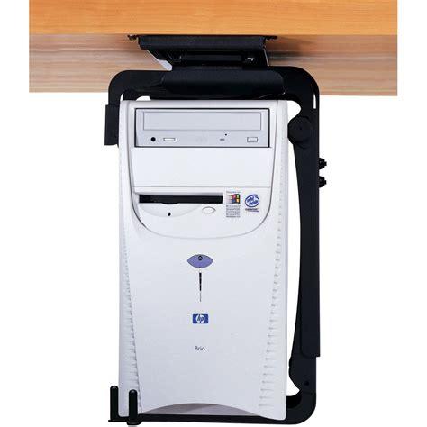 cpu under desk mount humanscale cpu555sec secure under desk mount cpu holder