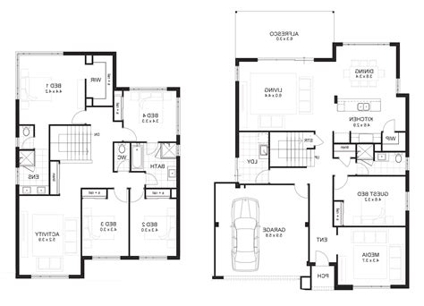 6 bedroom double storey house plans 5 bedroom house floor plans australia home combo