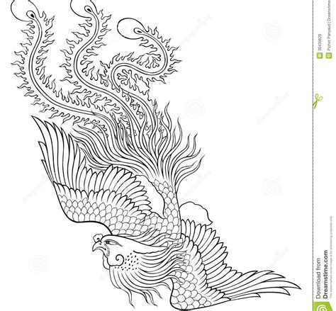 coloring pages phoenix bird vector logo of black and white coloring page phoenix bird