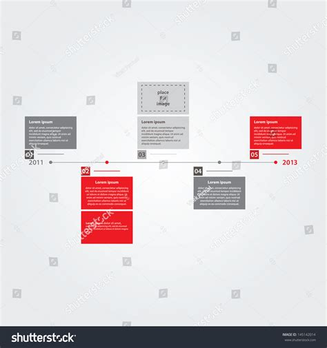 layout time vector clean clear time line template stock vector