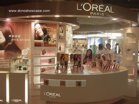 Shoo Loreal shop by retail location shopping mall kiosk products