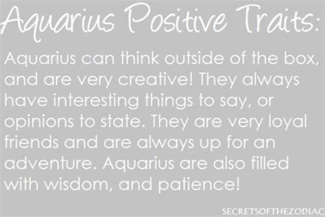 positive traits i aquarius pinterest positive
