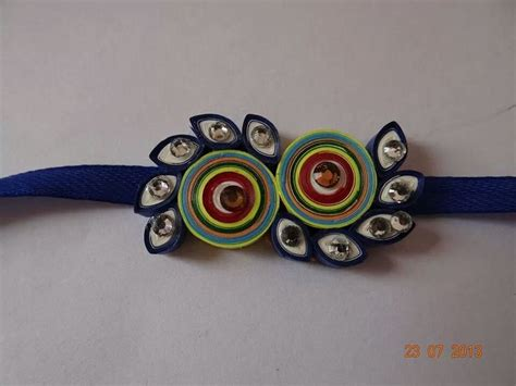How To Make Handmade Rakhi Designs - 9 best images about quilled rakhi on