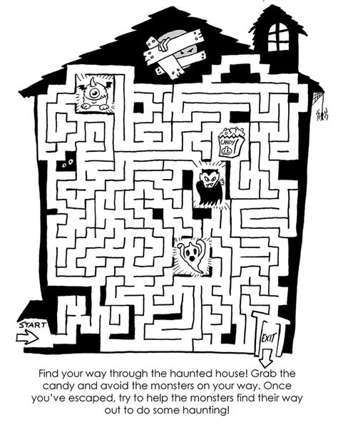 printable halloween maze difficult haunted house maze by plummypress on deviantart