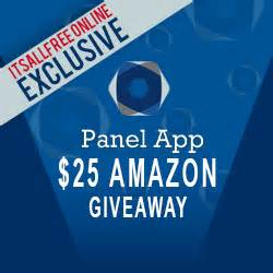 Amazon Android App Giveaway - panel app 25 amazon gift card giveaway
