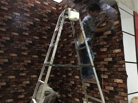 jual murah order gan wallpaper dinding motif batu bata