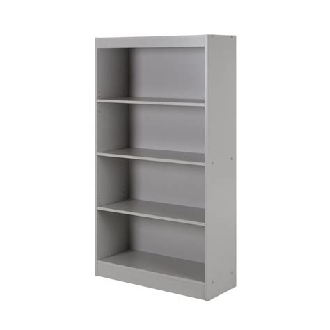 south shore 4 shelf bookcase south shore axess 4 shelf bookcase in gray 10136