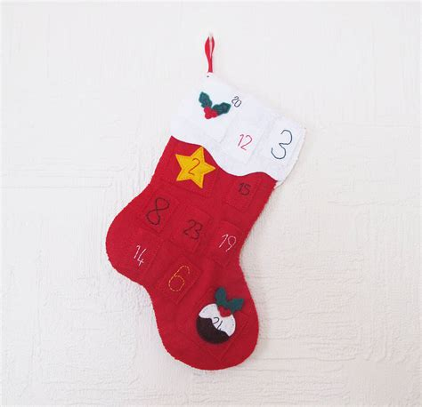 Sewing Christmas Stocking Kits | advent calendar christmas stocking sewing kit by sarah