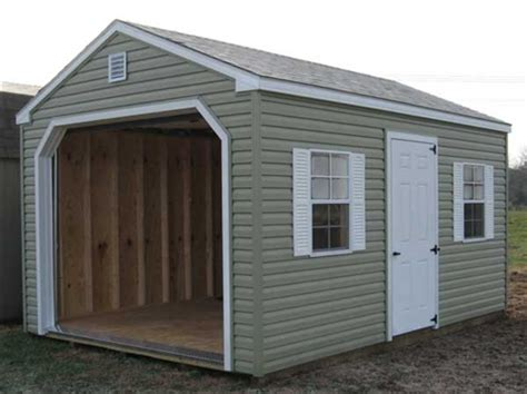 One Car Garage Cost by Vinyl Amish Built 1 Car Garages For Sale In Virginia And