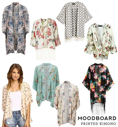 kimono t shirt pattern moodboard printed kimonos sew diy