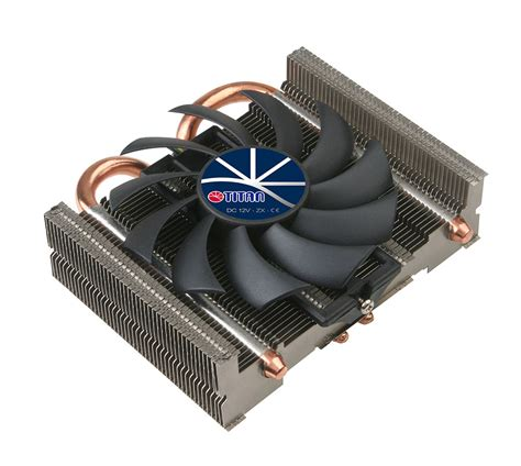 low profile 80mm fan universal low profile design cpu air cooler with 2 dc