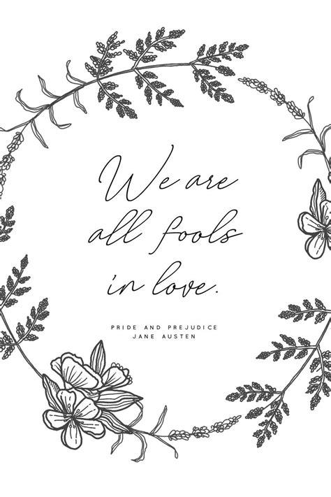Pride and Prejudice Jane Austen Print Book Quote Wall Art
