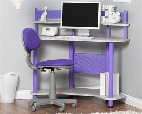 purple computer desk desk design