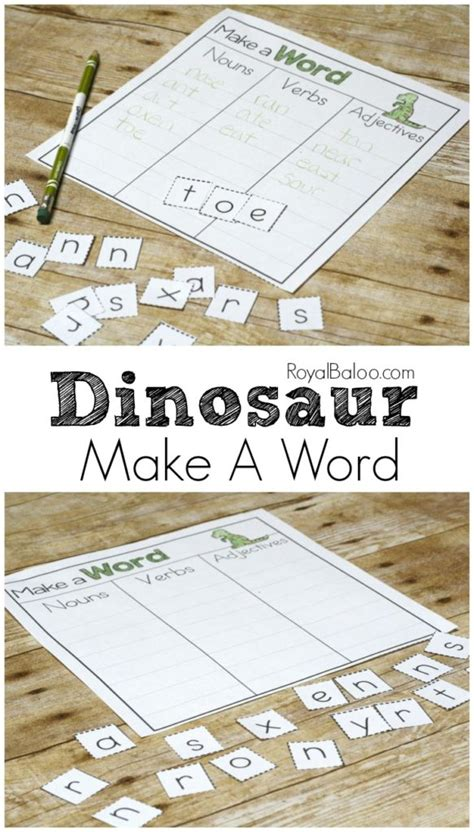 is ma a word in scrabble dinosaur make a word printable for easy writing practice