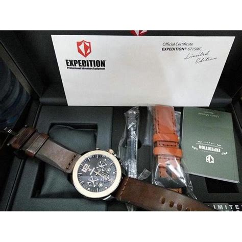 Expedition 6392 Mc Original Limited Edition Promo jam tangan official certificate expedition e6715mc limited edition original elevenia