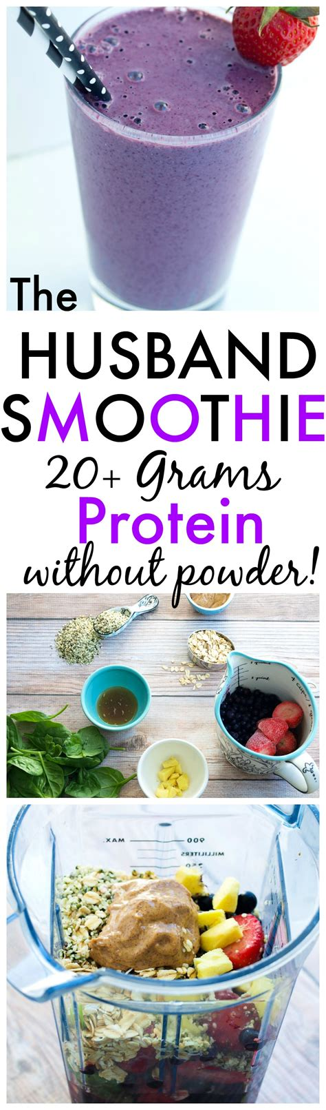protein 20 grams the husband protein smoothie happy healthy