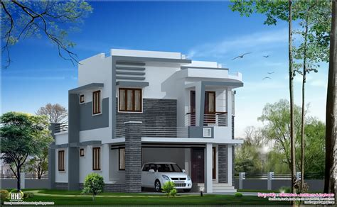 modern villa house plans beautiful 1650 sq modern home design kerala home