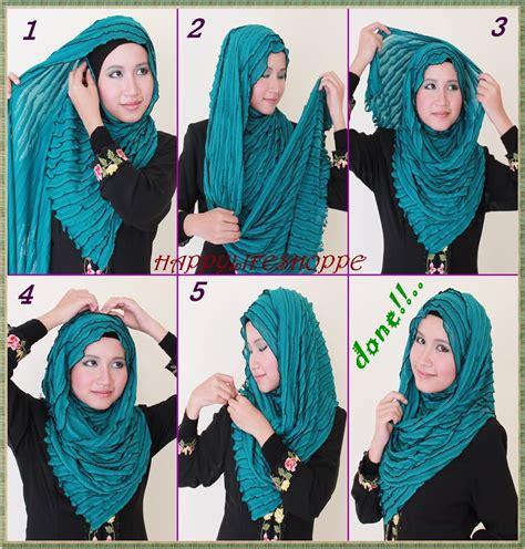 memakai shawl simple  segala aktifitas hijab
