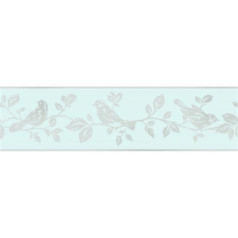 glitter wallpaper border uk fine decor glitz leaf bird glitter wallpaper border teal