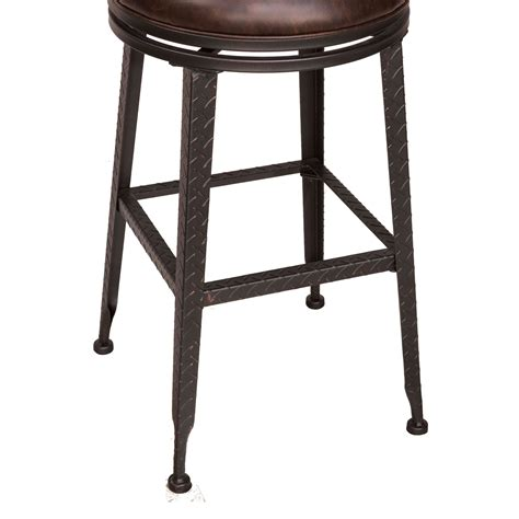 Hillsdale Milan Swivel Counter Stool by Hillsdale Backless Bar Stools Black Metal With Copper