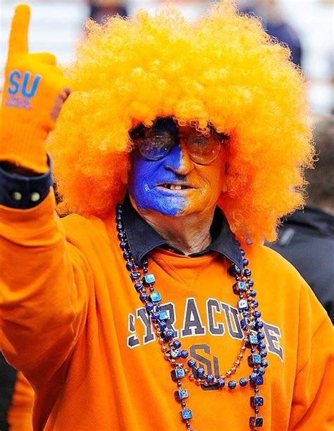 syracuse orange fan painted blue and orange syracuse orange