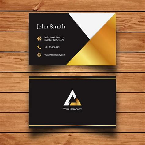 gold business card template gold business card template free on pngtree