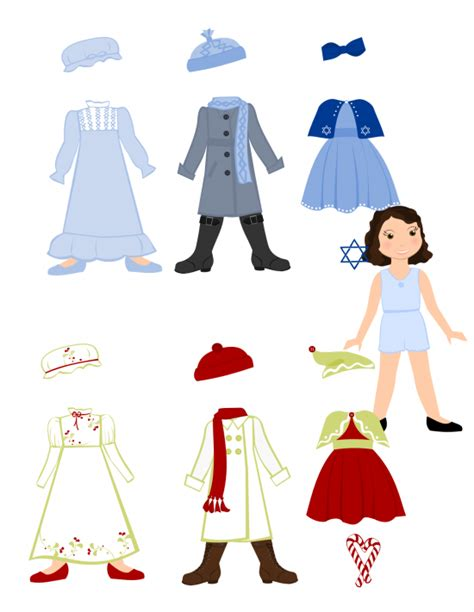 free paper doll template clipart best