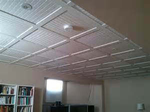 Beadboard Ceiling Tiles - embassy suspended ceiling with beadboard ceiling tiles 16 kevin lemay