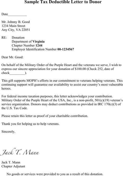 Donation Thank You Letter Wording Thank You Letter For Donation For Excel Pdf And Word